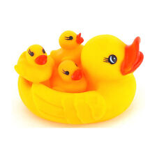 Cute lovely 4pcs Rubber Squeaky Yellow Duck Shower Bath Floating Baby Kids Toys