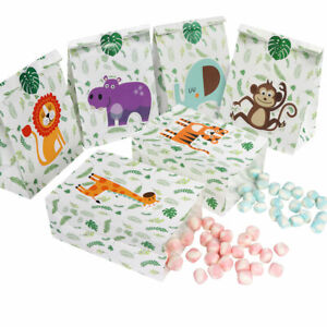 12x Jungle Party Favor Box Paper Candy Gift Box Jungle First Birthday Party Deco