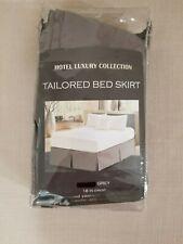"""Winston Porter Brandenburg 16"""" dark gray full size bed skirt"""