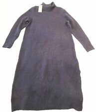 M& S Navy Wool Blend Roll Neck Knit Sweater Jumper Dress BNWT M RRP £29