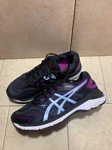 Asics Women's US 8.5 W GT-2000 7 Sneaker Black/SIlver Purple 1012A146-401 Wide