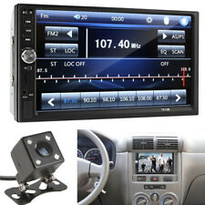 """7"""" Touch Screen 2 DIN 12V Car FM MP3 MP5 Player Bluetooth Phone Charger + Camera"""
