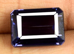 Emerald Cut 11.75 Ct Color Changing Sapphire 100% Natural Gems Certified E6353