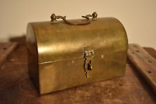 Small Vintage Brass Chest