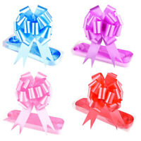 30Pcs Pull Ribbon Bows Flower for Wedding Car Gift Wrap Party Bow Decoration US