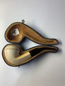 Vintage Ural Meerschaum Pipe With Case