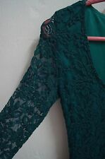 ASOS Dress - Turqouise/ Green Lace Dress Size UK 8 *FREE SHIPPING*