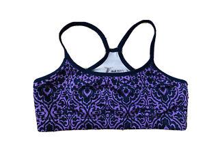 Old Navy Active Sport Bra Go Dry Girl Size 10/12 Purple