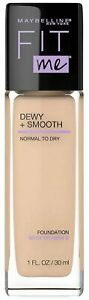 Maybelline Fit Me! Dewy + Smooth Normal-Dry Foundation SPF18 (120 Classic Ivory)