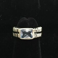 VINTAGE  STERLING SILVER RING WITH  TOPAZ