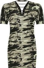 T-shirt, maglie e camicie da donna, taglia comoda verde con scollo a v