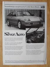 VAUXHALL SILVER AERO 1980 UK Mkt Publicity Leaflet Brochure - Cavalier Sports