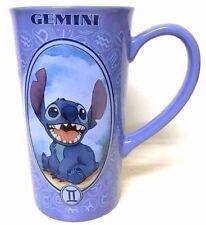 "Disney Lilo Stitch Gemini Astrology Zodiac 6"" Ceramic Blue Mug Cup Coffee Tea"