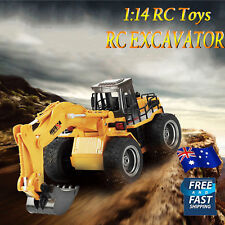 Remote Control RC Alloy Excavator wheel digger Car 1:12 2.4GHz 15CH Toy GiftGift