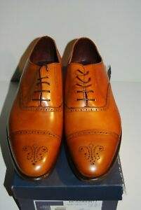 New Charles Tyrwhitt Brown Semi Brogue Shoes Sz 12