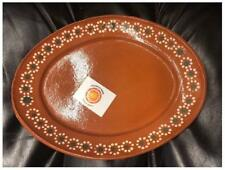 New Mexican Grande Dinner  Salad Clay Oval Plates 11x8 Set Of 4 Made in Mexico