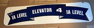 Original ELEVATOR Sign - Jack Murphy Qualcomm Stadium Chargers Padres - Genuine