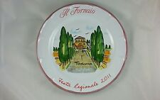 IL FORNAIO  ITALY PLATE TOSCANA BOLGHERI FIESTA REGIONALE 2011 Made in Italy