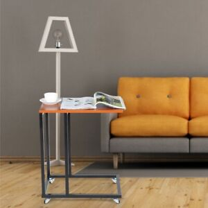 Modern Sofa Side Table Coffee Tea Tables With Wheels Furniture Access Household