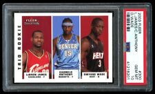 2003 Fleer Trio RC Lebron James/Carmelo Anthony/Dwyane Wade #300 PSA GEM MT 10