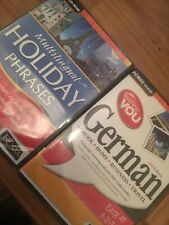 PC CD Rom x2 - 2nd EDITION TEACHING GERMAN and MULTILINGUAL HOLIDAY PHRASES- New