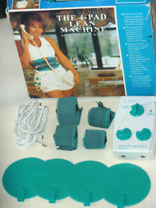 BEAUTY WORKS 4 PAD LEAN MACHINE BODY ABS SLIM GYM TONER EMS BATTERY OPERATED