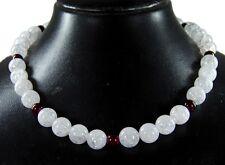 Bella Collar en Piedra Preciosa Cristal de Roca con perlas AUS GRANADAS