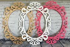 Super Ornate Large Oval Open Picture Frame Party Decor Custom Colors