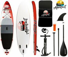 """AQUALUST 10'6"""" Sup Tabla Stand Up Paddle Surf-Board Hinchable Remos Isup"""