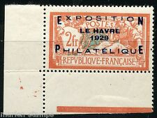 FRANCE LE HAVRE EXPOSITION  SCOTT#246 YVERT #257A  MINT LH  FULL ORIGINAL GUM