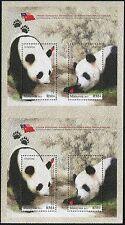 Malaysia 2015 Pandas Pandabären Naturschutz Animal Protection China Doppelblock