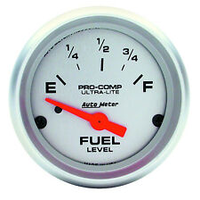 "AUTOMETER ULTRA LITE 2 1/16"" (52mm) FUEL LEVEL GAUGE (FOR USE WITH 3262 SENDER)"