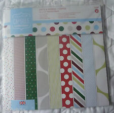 "PAPERMANIA Capsule Collection Spots & Stripes Festive 12 x 12"" Paper Pack 32 pk"