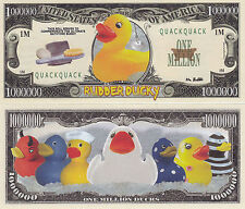 Two Rubber Ducky Quack Quack One Million Dollar Bills # 319