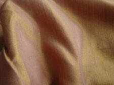 Vintage RAYON Fabric iridescent Changeable GOLD Lilac Purple YARDAGE Sari