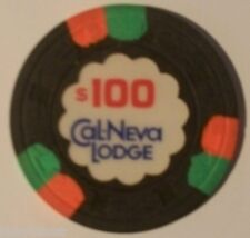 Cal Neva Lodge $100.00 Casino Chip Lake Tahoe Nevada