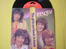 45 GIRI RISQUE' THE GIRLS ARE BACK IN TOWN NUOVO 1982