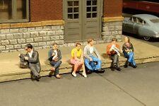 Escala H0 - Bachmann 6 Figuren Sentado 33111 NEU