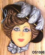 Ceramic Bisque Mask Gibson Girl Ocean State 1038 U-Paint Ready To Paint