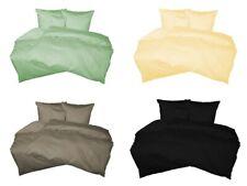 Gruber Bettwäsche Bettbezug Kissenbezug zum Kombinieren  einfarbig Baumwolle uni
