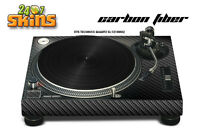 Skin Decal Sticker Wrap for Technics Quartz SL Turntable Pro Audio Mixer CARBON
