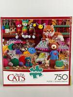 NEW BUFFALO GAMES CATS 750 PIECE  JIGSAW PUZZLE Crochet Kittens