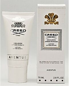 Creed Aventus Aftershave Lotion 2.6oz / 75ml New in Box Ships Fast Finescents!
