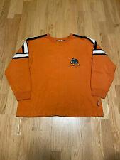 Vintage JNCO Orange Flamehead Crew Neck Sweatshirt size XL