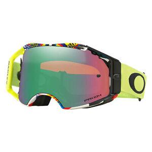 Oakley Airbrake MX Goggles Valentino Rossi 46 Signature w/ Prizm MX Jade Lens