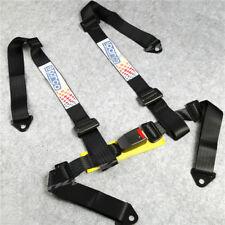 Universal 4-Point JDM Car Auto Racing Sport Seat Belt Safety Harness Strap Black