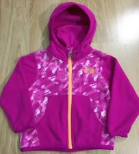 The North Face Full Zip Fleece Jacket Baby Toddler Size 6-12 Months Pink