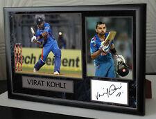Virat Kohli Signed Tribute Framed Great Gift