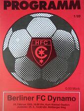 Programm 1988/89 HFC Chemie - BFC Dynamo