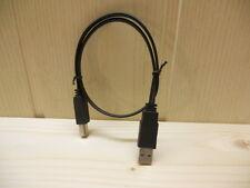 """0,5m USB 2.0 Flachkabel Druckerkabel """"A"""" Stecker auf """"B"""" Stecker schwarz"""